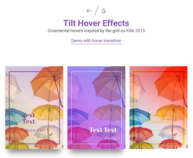 [Codrops] Tilt Hover Effect